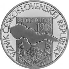 Strieborná mince Vznik Československej republiky – 100. výročie 2018 Štandard
