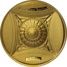 Zlatá mince Bazilika Sacré-Coeur 2018 Proof