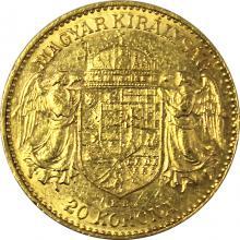 Zlatá mince Dvacetikoruna Františka Josefa I. Uherská ražba 1902