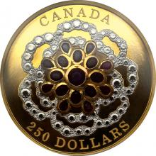 Zlatá minca 2 Oz korunovačný klenot - rubín 2018 Proof