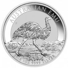 Stříbrná investiční mince Emu 1 Oz