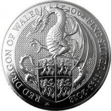 Stříbrná investiční mince The Queen's Beasts Red Dragon 10 Oz 2018