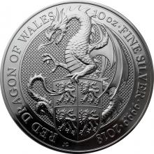 Stříbrná investiční mince The Queen's Beasts Red Dragon 10 Oz 2018