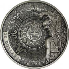 Stříbrná mince 1 kg dědictví Mayů 2018 Antique Standard
