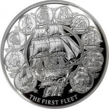 Strieborná minca Prvá flotila 2 Oz 2018 Proof