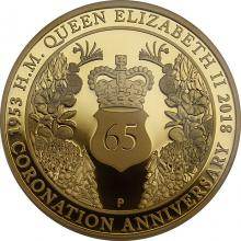 Zlatá minca 65. výročie korunovácie Alžbety II. 2 Oz 2018 Proof