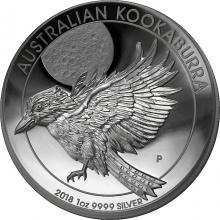 Stříbrná mince Kookaburra 1 Oz High Relief 2018 Proof