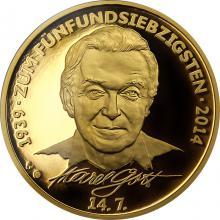 Zlatá uncová medaile Karel Gott - německá verze Proof