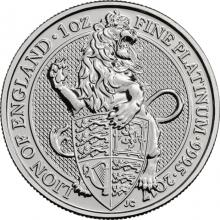 Platinová investičná minca The Queen 's Beasts The Lion 1 Oz 2017