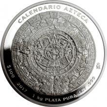 1kg Aztécký kalendář Stříbrná mince 2017 Proof