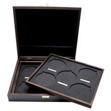 Drevená krabička pre 10 x 10 Oz Ag mince série The Queen 's Beasts