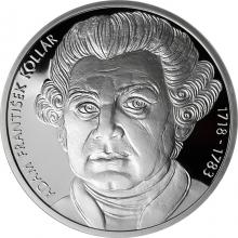 Stříbrná mince Adam František Kollár 300. výročí narození 2018 Proof
