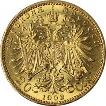 Zlatá mince Dvacetikoruna Františka Josefa I. Rakouská ražba 1902