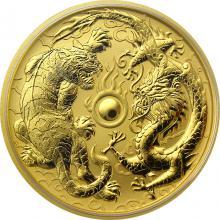 Zlatá investiční mince Drak a Tygr 1 Oz 2019