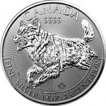 Strieborná investičná minca Vlk Predator 1 Oz 2018