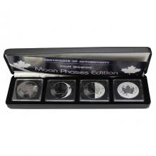 Maple Leaf Čtyři roční období Sada stříbrných Ruthenium mincí 2018 Standard