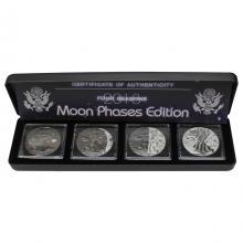 American Eagle Čtyři roční období Sada stříbrných Ruthenium mincí 2018 Standard