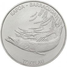 Stříbrná investiční mince Barakuda Tokelau 1 Oz 2017