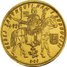 Zlatá mince Svatý Václav Pětidukát Československý 1933