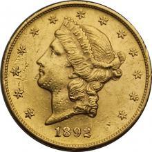 Zlatá mince American Double Eagle Liberty Head 1892