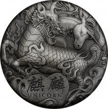 Strieborná minca 2 Oz Jednorožec 2018 Antique Štandard