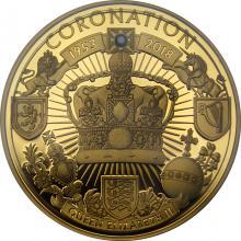 Zlatá mince 65. výročí korunovace 1 Oz 2018 Proof