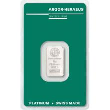 5g Argor Heraeus SA Švýcarsko Investičná platinová tehlička