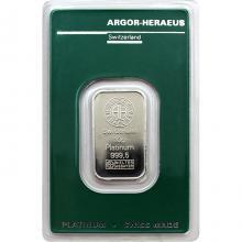 10g Argor Heraeus SA Švýcarsko Investičná platinová tehlička