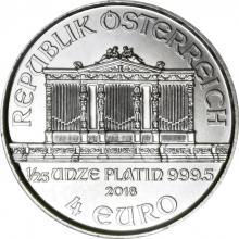 Platinová investičná minca Wiener Philharmoniker 1/25 Oz