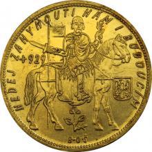 Zlatá mince Svatý Václav Pětidukát Československý 1931