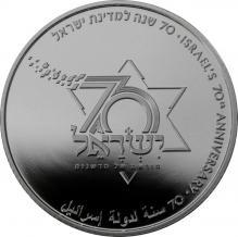 Strieborná minca 70. výročie Štátu Izrael 2018 Proof