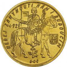 Zlatá mince Svatý Václav Pětidukát Československý 1930