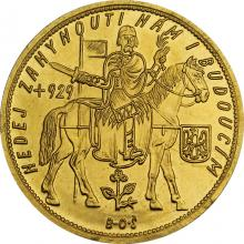 Zlatá minca Svätý Václav Desaťdukát Československý 1934