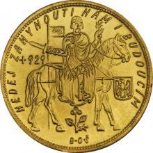 Zlatá mince Svatý Václav Pětidukát Československý 1935