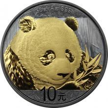 Stříbrná Ruthenium mince pozlacená Panda 30 g Golden Enigma 2018 Proof