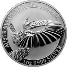 Stříbrná investiční mince Australian Bird of Paradise 1 Oz 2018