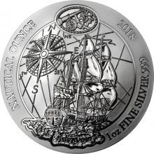 Stříbrná investiční mince HMS Endeavour - Nautical Ounce 1 Oz 2018