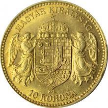 Zlatá mince Desetikoruna Františka Josefa I. Uherská ražba 1913