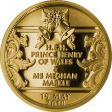 Zlatá mince Královská svatba - Princ Harry a Meghan Markle 1/4 Oz 2018 Proof