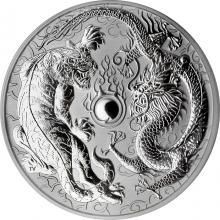 Stříbrná investiční mince Drak a Tygr 1 Oz 2018