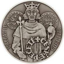 Stříbrná medaile České pečetě - Václav II. 2018 Standard
