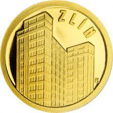 Zlatá minca Zlín - Baťov mrakodrap 2018 Proof