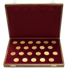 Sada 22 zlatých mincí Osmizlatník Františka Josefa I. 1870 - 1891