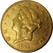Zlatá mince American Double Eagle Liberty Head 1885