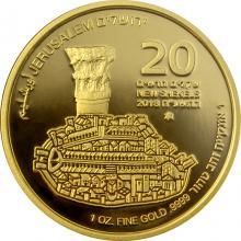 The Cardo Osmá zlatá investiční mince Izraele 1 Oz 2018