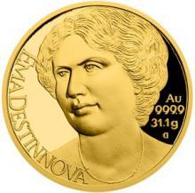 Zlatá uncový minca Osudové ženy - Ema Destinová 2018 Proof