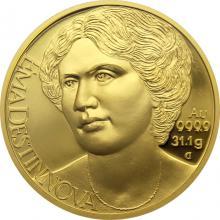 Zlatá uncová mince Osudové ženy - Ema Destinnová 2018 Proof