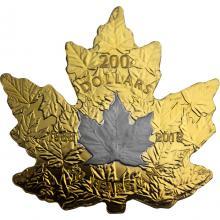 Zlatá pokovená mince Maple Leaf 1 Oz - 30. výročí 2018 Proof