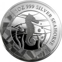 Stříbrná investiční mince Mořský koník 1 Oz 2018