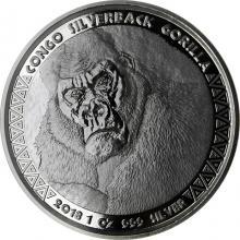 Stříbrná investiční mince Kongo Gorila 1 Oz 2018